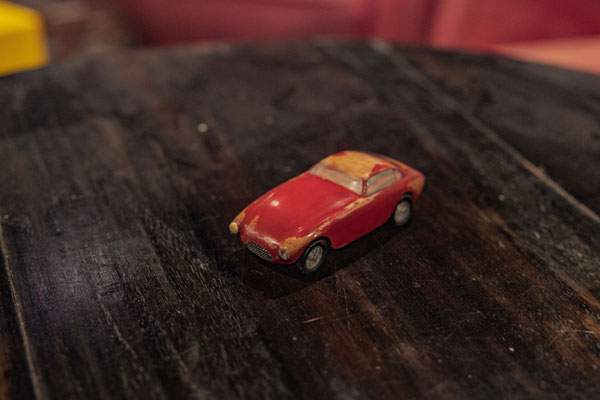 ferrari 330gt balsa wood model